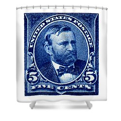 1898 Ulysses S. Grant Stamp Shower Curtain