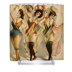 1899 Burlesque Women Shower Curtain by Courier Litho