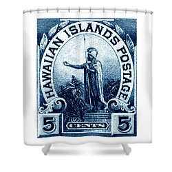 1899 Statue Of Kamehameha Stamp Shower Curtain