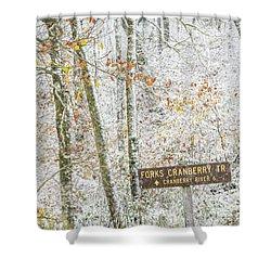 Cranberry Wilderness Shower Curtain