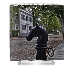 Hitching Post Shower Curtain