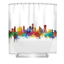 Houston Texas Skyline Shower Curtain