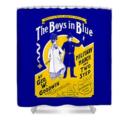 Shower Curtain featuring the painting 1901 The Boys In Blue, The Boston Police by Historic Image