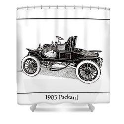 1903 Packard Shower Curtain by Jack Pumphrey