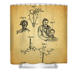 1904 Dental Forceps Patent Shower Curtain by Dan Sproul