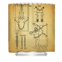 1905 Exercise Apparatus Patent Shower Curtain by Dan Sproul
