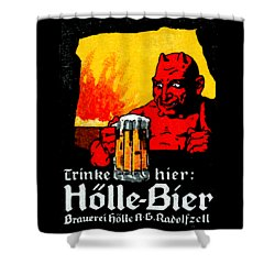 1905 German Beer Poster Shower Curtain