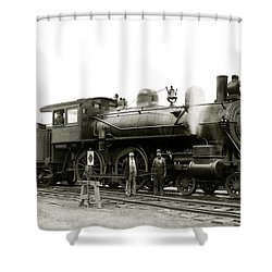 1905 Rail Engineers And Engine 1134 Shower Curtain by Historic Image