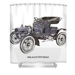 1906 Knox Model F 3 Surry Shower Curtain by Jack Pumphrey