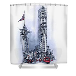 1908 Times Square,ny Shower Curtain