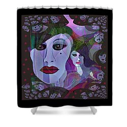 1909 Faces Fractal - 2017 Shower Curtain by Irmgard Schoendorf Welch