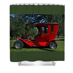 1909 Ford Model T Limo Custom Hot Rod Shower Curtain by Tim McCullough