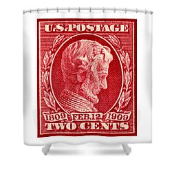 1909 Lincoln Centenary Stamp Shower Curtain