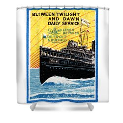 1910 Detroit To Buffalo Steamship Shower Curtain