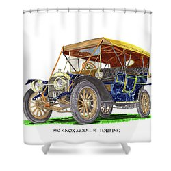 1910 Knox Model R 5 Passenger  Touring Automobile Shower Curtain by Jack Pumphrey