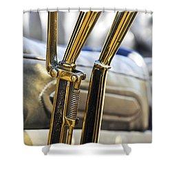 1910 Pope Hartford T Brake Throttle Shower Curtain by Jill Reger