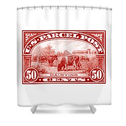 1913 Dairy Industry Stamp Shower Curtain