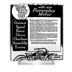 Shower Curtain featuring the digital art 1913 Indian Motorcycle Is The Best by Daniel Hagerman