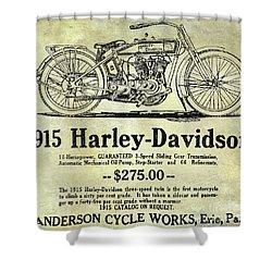 1915 Harley Davidson Advertisement Shower Curtain by Jon Neidert