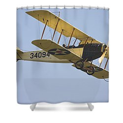 1917 Curtiss Jn-4d Jenny Flying Canvas Photo Poster Print Shower Curtain