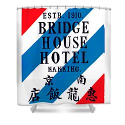 Shower Curtain featuring the painting 1920 Bridge House Hotel Nanking China by Historic Image