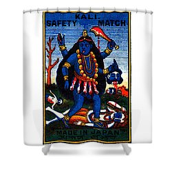 1920 Hindu Goddess Kali Shower Curtain