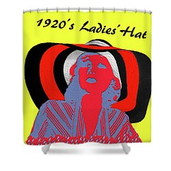 1920s Ladies Hat Shower Curtain by Bruce Iorio