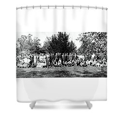 Shower Curtain featuring the photograph 1921 Japanese Americans In Los Angeles California by Historic Image