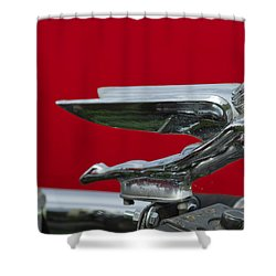 1924 Ford Hood Ornament Shower Curtain by Jill Reger