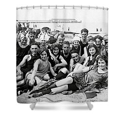 1925 Beach Party Shower Curtain
