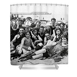 1925 Beach Party Shower Curtain