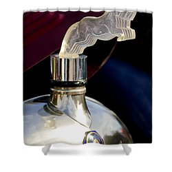 1925 Citroen Cloverleaf Hood Ornament Shower Curtain by Jill Reger