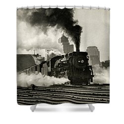 1925 Train Leaving Boston  Shower Curtain