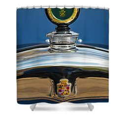 1926 Cadillac Series 314 Custom Hood Ornament Shower Curtain by Jill Reger