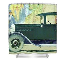1926 Moon Sedan Ptg Shower Curtain