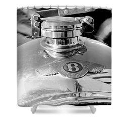 1927 Bentley Hood Ornament 2 Shower Curtain by Jill Reger