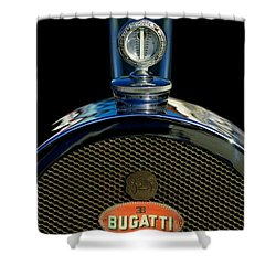 1927 Bugatti Replica Hood Ornament Shower Curtain by Jill Reger