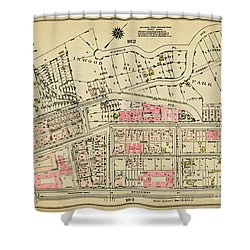 Shower Curtain featuring the photograph 1927 Inwood Map  by Cole Thompson