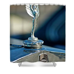1928 Nash Coupe Hood Ornament Shower Curtain by Jill Reger