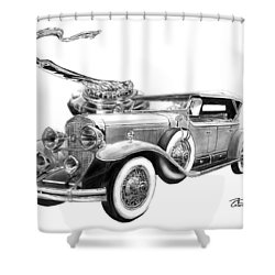 1929 Cadillac  Shower Curtain by Peter Piatt