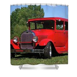 1929 Ford Sedan Hot Rod Shower Curtain