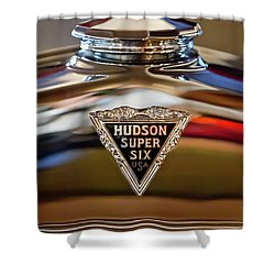 1929 Hudson Cabriolet Hood Ornament Shower Curtain by Jill Reger