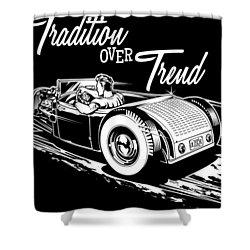 1929 Roadster Design Shower Curtain