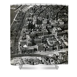 Shower Curtain featuring the photograph 1930 Along Charles Street, Boston by Historic Image