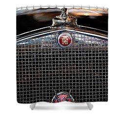 1930 Cadillac Roadster Hood Ornament 3 Shower Curtain by Jill Reger