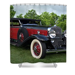 1930 Cadillac V16 Allweather Phaeton Shower Curtain by Tim McCullough