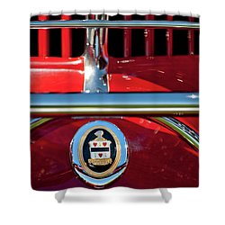 1930 Cord L29 Phaeton Emblem Shower Curtain by Jill Reger