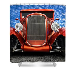 Shower Curtain featuring the photograph 1930 Ford Street Rod by Mark Guinn