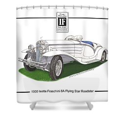 1930 Isotta Fraschini 8a Flying Star Roadster Shower Curtain by Jack Pumphrey