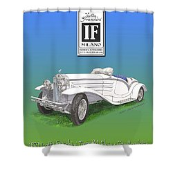 1930 Isotta Fraschini Tippo 8 A Flying Star Roadster Shower Curtain by Jack Pumphrey